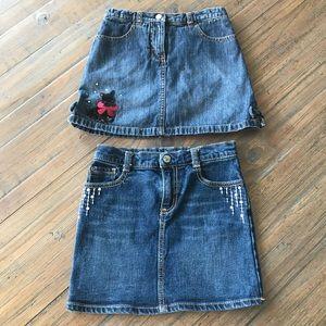 Gymboree size 7 jean skirt & jean skort